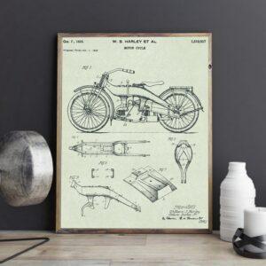 Quadro patente motocicleta