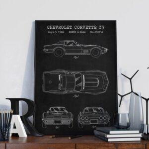 Quadro patente carro