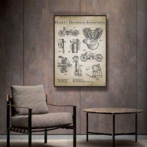 Quadro patente Harley Davidson