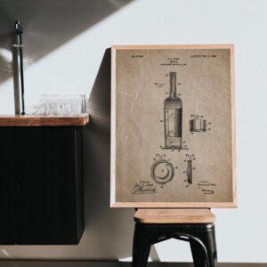 Quadro patente vinho