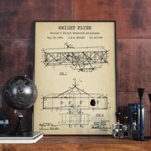 Quadro patente avião