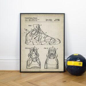 Quadro patente tênis